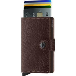 Hnědá kožená peněženka s pouzdrem na karty Secrid Clip