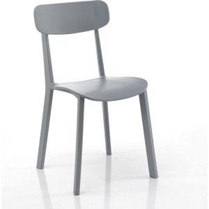 Sada 4 šedých jídelních židlí Tomasucci Mara