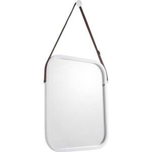Nástěnné zrcadlo v bílém rámu PT LIVING Idylic, délka40,5cm