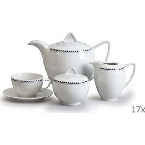 Porcelánová sada na čaj s trojúhelníčky Thun Lea