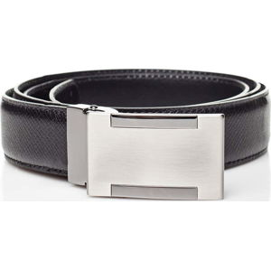Černý kožený pánský pásek Ferruccio Laconi Alf, délka 105 cm