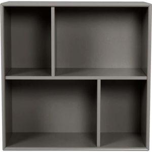 Tmavě šedá police Tenzo Z Cube, 70x70cm