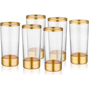 Sada 6 skleniček Mia Glam Gold, 250 ml