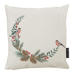 Vánoční polštář s bavlněným povlakem Butter Kings Winter Forest,50x50cm