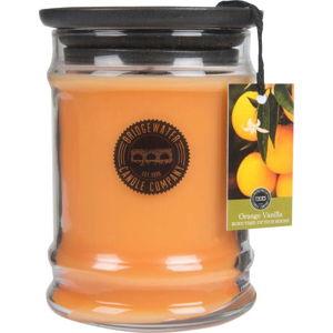 Svíčka ve skleněné dóze s vůní pomeranče a vanilky Bridgewater candle Company, doba hoření 65-85 hodin