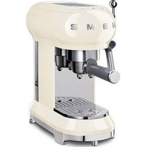 Krémové bílý pákový kávovar na Espresso SMEG