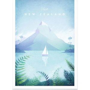 Plakát Travelposter New Zealand, A3
