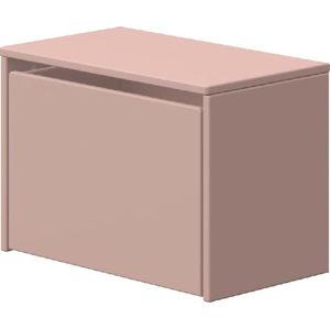 Růžová úložná lavice Flexa Play