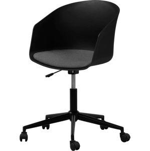 Černá kancelářská židle na kolečkách Interstil MOON