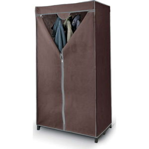 Hnědá šatní skříň Domopak Living Closet