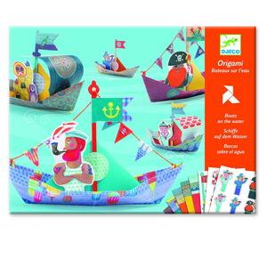 Set origami z nepromokavého papíru s příslušenstvím Djeco Lodě