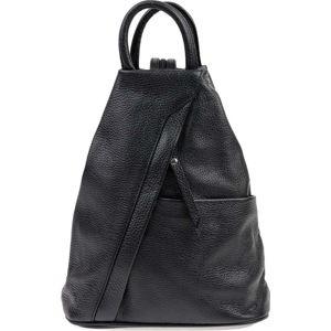 Černý kožený batoh Carla Ferreri Emilia