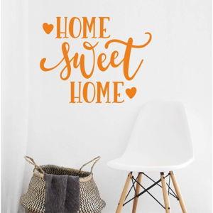 Oranžová nástěnná samolepka North Carolina Scandinavian Home Decors Motto V36
