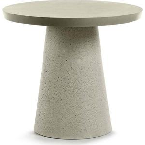 Šedý stolek La Forma Rhette,⌀90cm