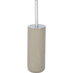 Šedohnědý cementový toaletní kartáč Wenko Joy