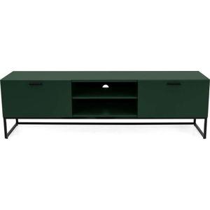 Zelený TV stolek s černými kovovými nohami Tenzo Mello