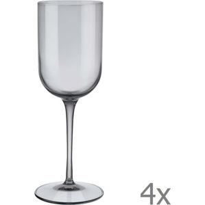 Sada 4 šedých sklenic na bílé víno Blomus Mira, 280 ml